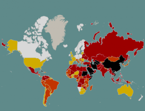 Žurnalistų laisvė pagal spalvas