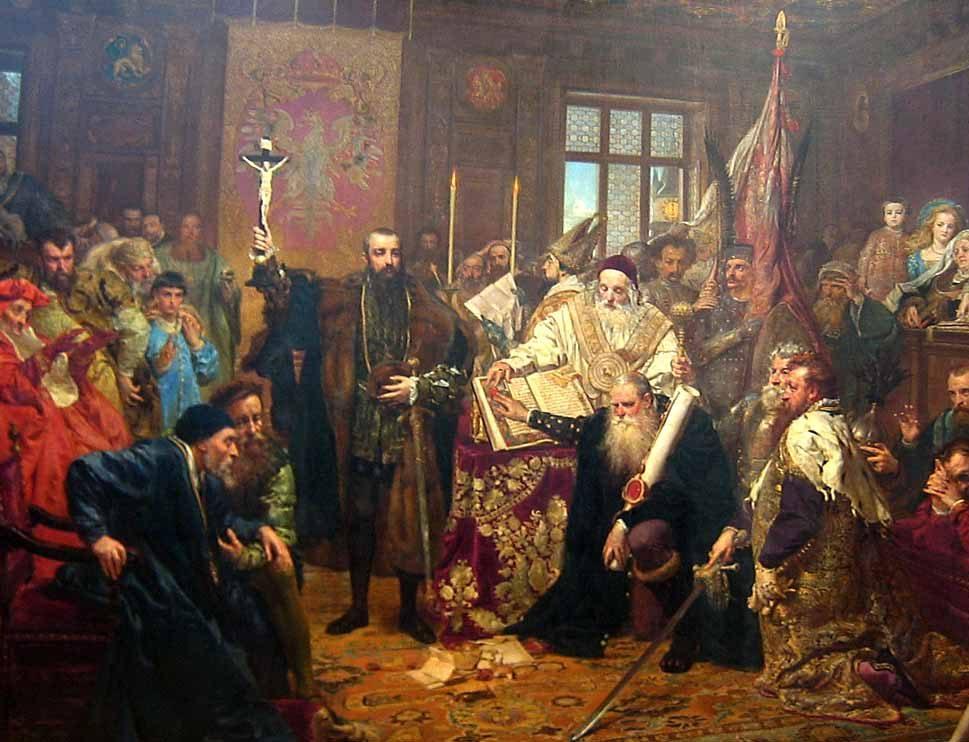 Janas Mateika. Liublino unija. 1869 m.   wikipedia.org nuotr.