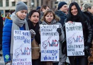 Norvegijos lietuviai Oslo centre protestavo pries Barnevernet sprendimus (5)