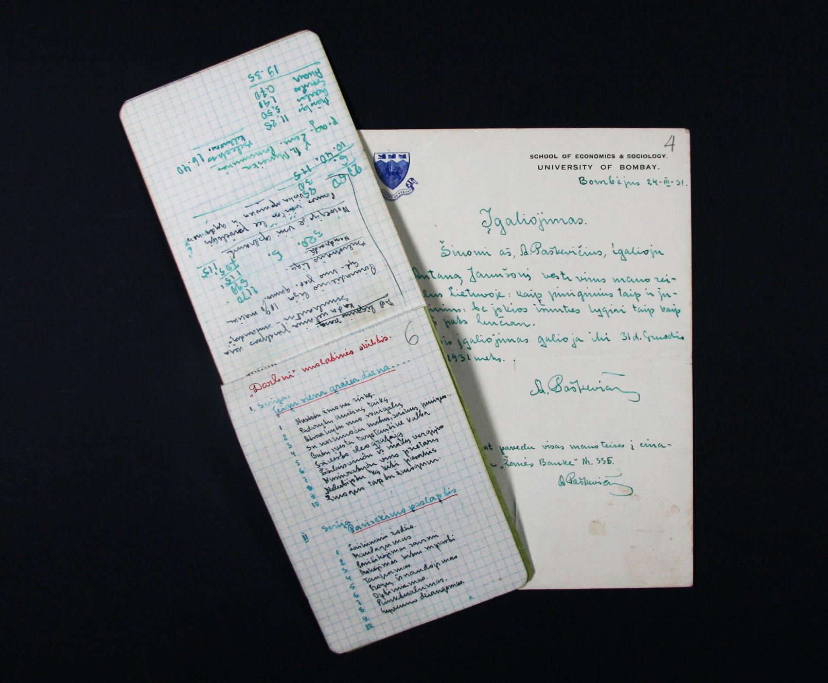 A.Poskos-dokumentai-Vrublevskiu-bibliotekos-nuotr