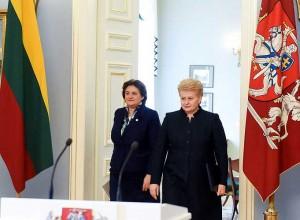 D. Grybauskaitė ir L. Graužinienė   lrp.lt nuotr.
