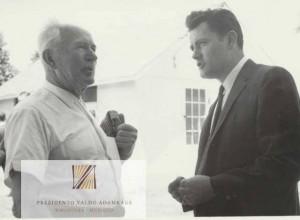 J.Bačiūnas ir V.Adamkus