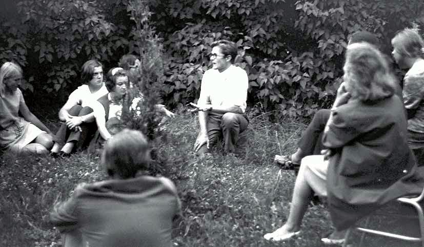 Norbertas Vėlius 1973 m. Luokės ekspedicijoje | Romualdo Ozolo nuotr.