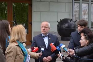 J. Olekas atsako į žurnalistų klausimus | kam.lt, A. Vitkausko nuotr.