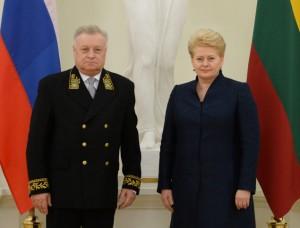 Aleksandras Udalcovas ir Dalia Grybauskaitė | lrp.lt, R. Dačkaus nuotr