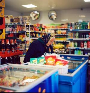 Bobulė ir parduotuvė. Autorės nuotrauka.