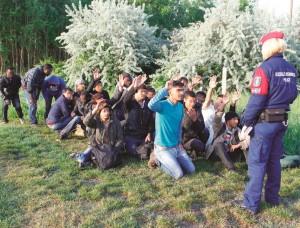 Migrantai | Vengrijos policijos nuotr.