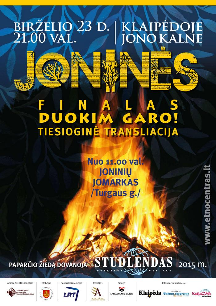Joninių 2015 plakatas