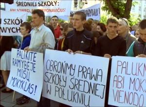 LLRA protestuoja prieš mokyklų pertvarką Lietuvoje 2015-06-02 | Alkas.lt nuotr.