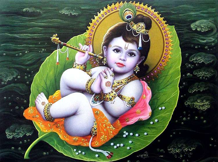09 baby-krishna-on-peepal-leaf2-K100