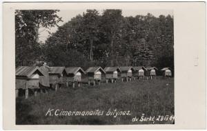 4. K. Cimermanaitės bitynas. Šarkės dvaras, 1929-09-28. Nuotrauka iš asmeninės Petro Kaminsko kolekcijos.
