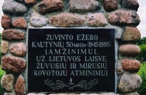 Gudeliu kapinese paminklas partizanams_Foto R. Trimonienejpg