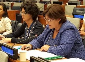 Loreta Graužinienė Pasaulio parlamentų pirmininkių konferencijoje pranesimas_l