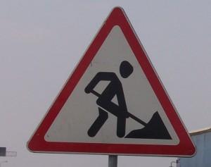 Kelio darbai, kelio ženklas | sumin.lt