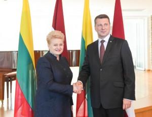 D. Grybauskaitės susitikimas su Latvijos Prezidentu R. Vėjuoniu | lrp.lt, R. Dačkaus nuotr.