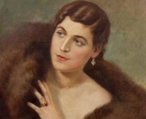 Advokatės Krištapovič portretas. 1950. Autorius Č. Znamierovskis