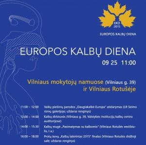 Europos Kalbu Diena 2015 plakatas