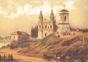 Jonas-Kazimieras-Vilcinskis-Snipiskiu-priemiestis-Sv-Rapolo-bzn-Jezaus-kopl.-litografija,1898.-Is-J. Kazimiero-Vilcinskio leidiniu,Vilniaus albumo,IV ser. Vilnius