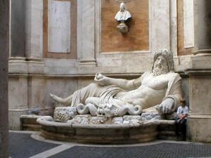 Iš kelionės į Romą. Kapitolijaus muziejaus kiemelis | Nuotrauka iš asmeninio fotoarchyvo.