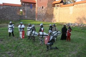 Kryžiuočių kariai Medininkų pilyje