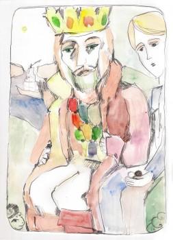 Melchizedekas, Salemo karalius. Gaiva Paprastoji. Akvarelė, tušas.