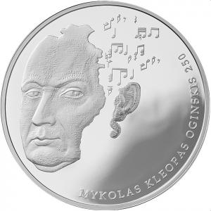 Mykolo Kleopo Oginskio 250-osioms gimimo metinėms skirta moneta