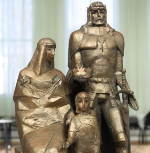 Paminklas.Karalius Mindaugas, Morta ir sūnus_Vidmanto Gylikio nuotr