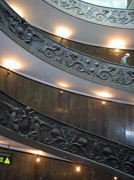 Iš kelionės į Romą. Vatikano muziejaus laiptai | Nuotrauka iš asmeninio fotoarchyvo.
