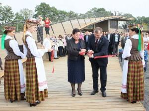 Vandenlenčių parko Zarasuose atidarymas | Valdo Čičinsko nuotr.