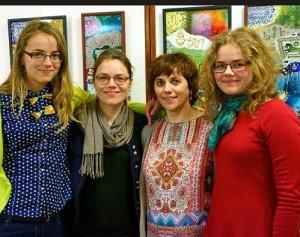 Dalia Stalauskienė su dukromis Germante, Austėja ir Rūtas   valstietis.lt, L. Cibulskienės nuotr.
