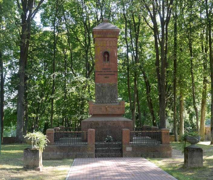 Paminklas Devintojo pėstininkų pulko kariams žuvusiems ties Giedraičiais kovoje su lenkų okupantais | Alaks.lt, J. Vaiškūno nuotr.
