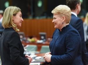 Prezidentė dalyvauja Europos Vadovų Tarybos susitikime.