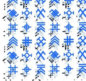 baltu zenklai tekstileje_plakatas