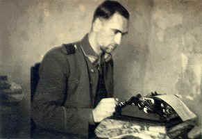 Antanas Baltūsis–Žvejys dirba. 1947 m. spalio 15 d. | genocid.lt nuotr.