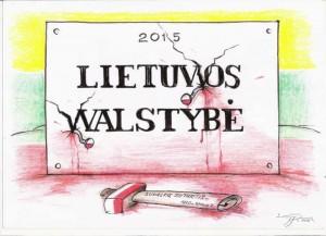 Lietuvos walstybė | A. Kostkevičiaus pieš.