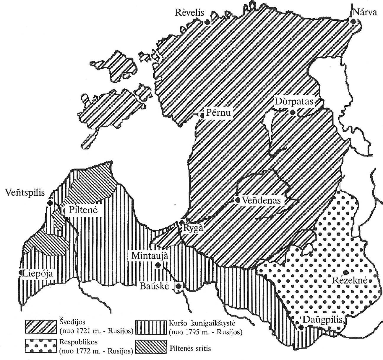 Livonija po Šiaurės karo.