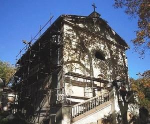 Restauruojama Bernardinų kapinių koplyčia | Dianos Varnaitės nuotr.