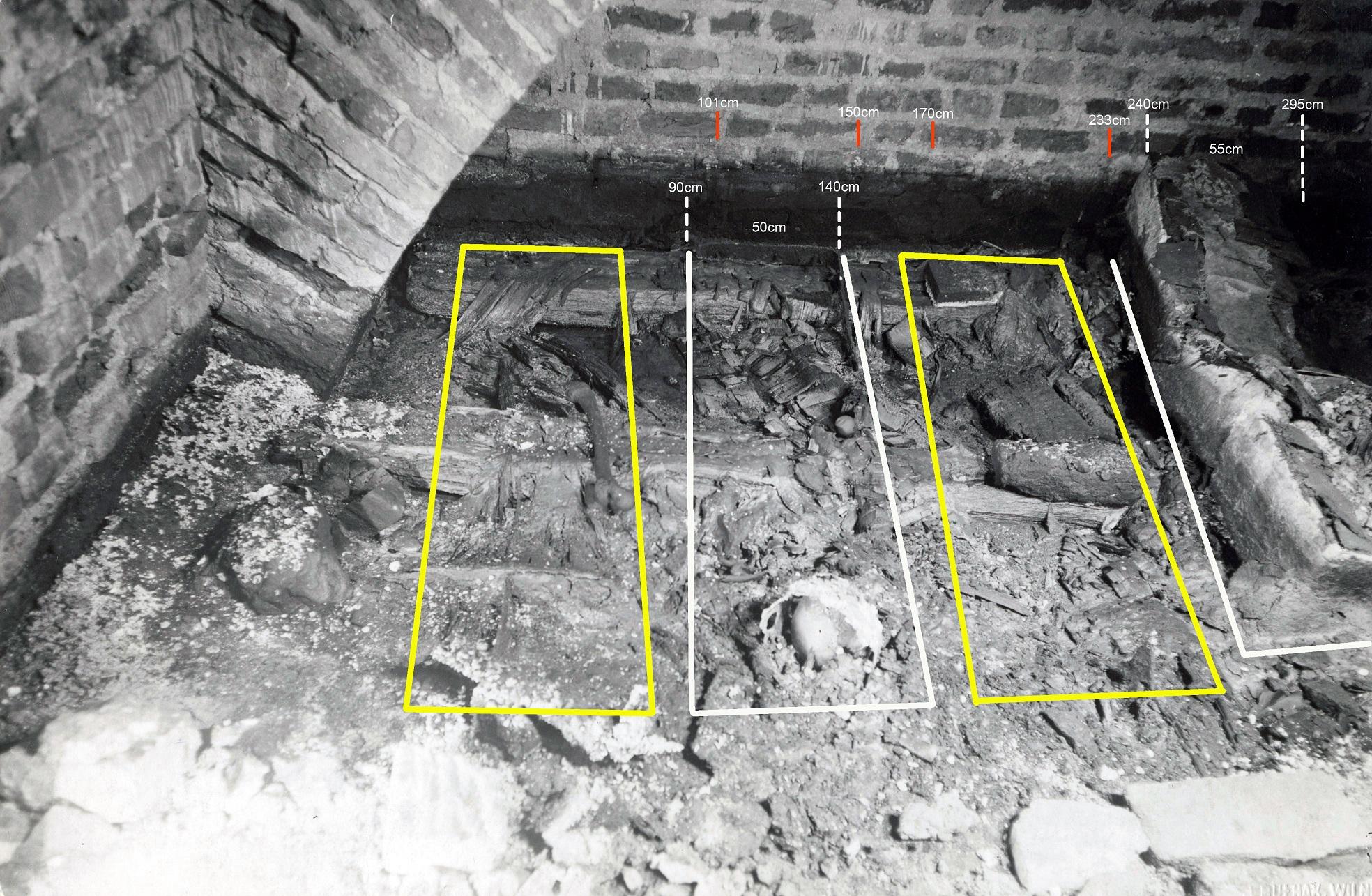 7 pav. Karalių kriptos vaizdas iš įėjimo pusės. Fot. aut. J. Bulhakas. 1931 m. (LVIA 1135-3-308(26)