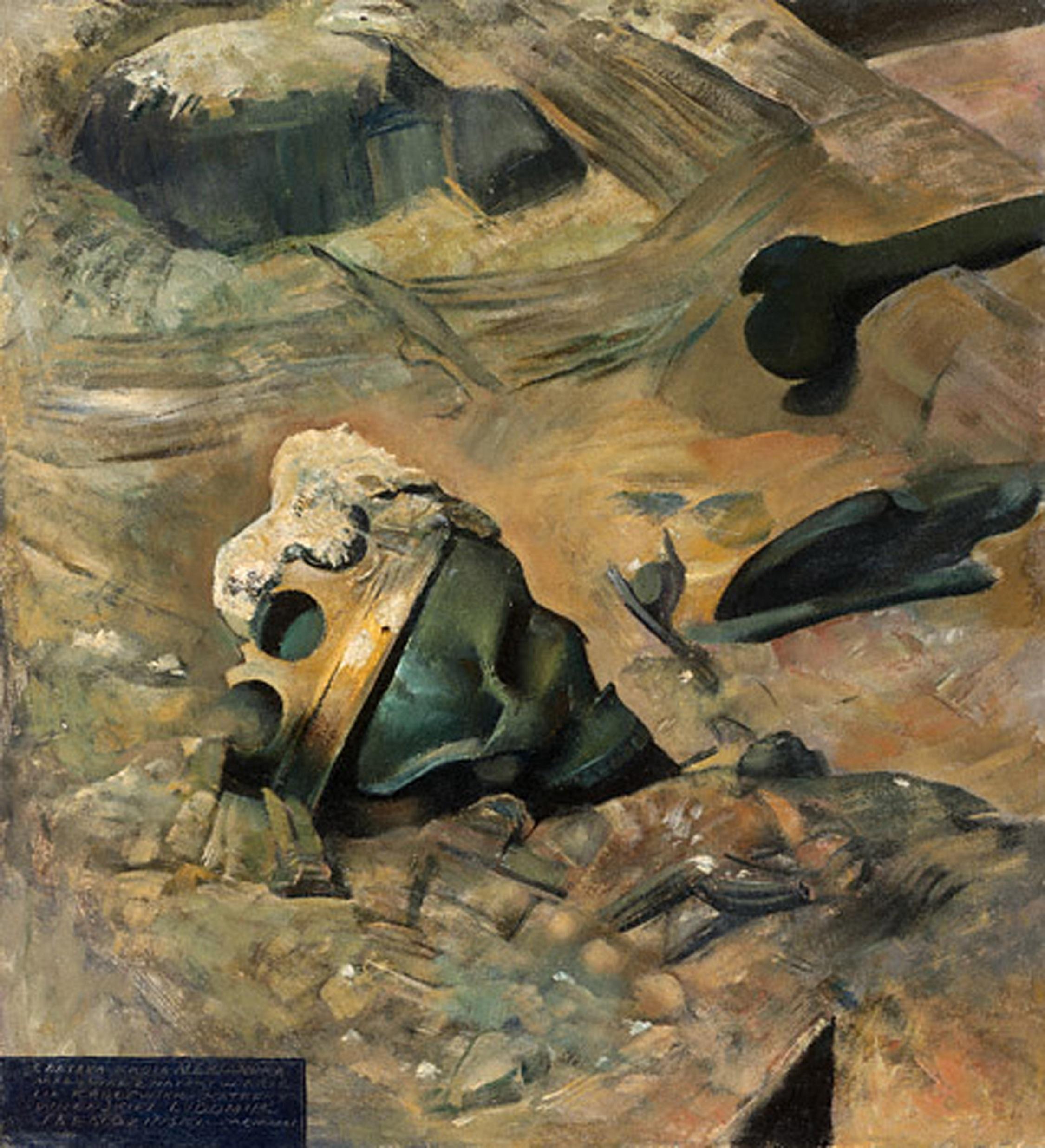 9 pav. Aleksandro Jogailaičio kaukolė. Aut. L. Slendzinskis. Aliejus, fanera 59,5 x 54,5 cm (LDM T-4276)