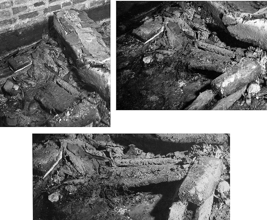 12 pav. Karalių kripta. Vaizdas tarp Aleksandro Jogailaičio ir Barboros Radvilaitės palaikų. Spėjama viduriniojo karsto vieta. Fot. aut. J. Bulhakas. 1931 m.