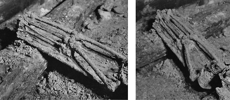 13 pav. Karalių kripta. Barboros Radvilaitės karsto dugnas. Fot. aut. J. Bulhakas. 1931 m.