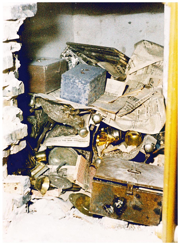 10 pav. Katedros lobynas slėptuvėje. Nuotr. iš N. Kitkausko asmeninio archyvo