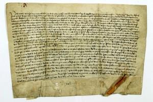 Krėvos sutarties aktas | Wikipedia.org nuotr.