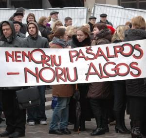 Įspėjamasis mokytojų streikas |dialogas.lt, E.Tervidytės nuotr.