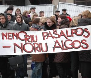 Įspėjamasis mokytojų streikas | Dialogas.lt, E.Tervidytės nuotr. |dialogas.lt, E.Tervidytės nuotr.
