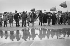 1988-09-03. Apkabinkime Baltija. R.Požerskio nuotrauka