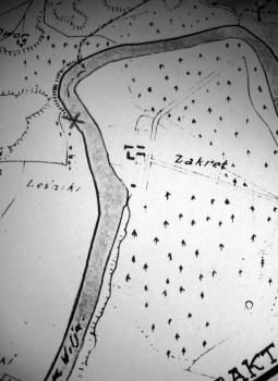 3 pav. Akmens vieta (pažymėta kryžiuku). 4 | Aleksandro Stabrausko nuotrauka.