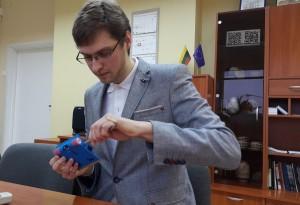 KTU studentas Giedrius Liaucys konstruoja robotus | asmeninio archyvo nuotr.