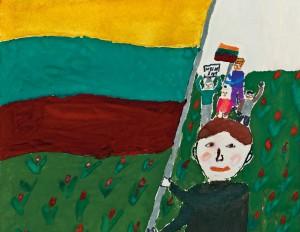Sausio 13-osios piešinys | Lietuvos nacionaliniame muziejaus nuotr.
