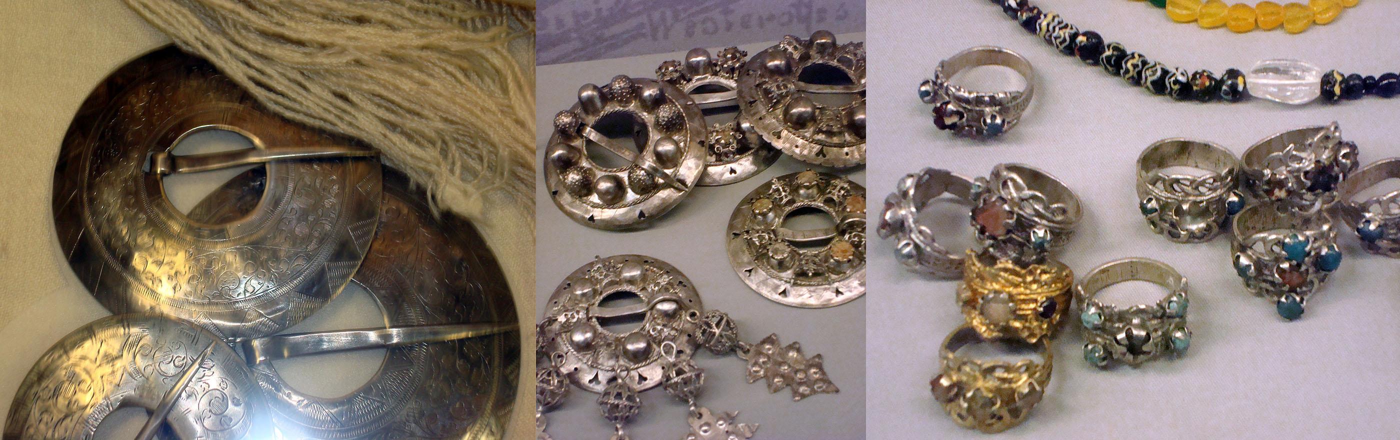 Tarp Latvijos nacionalinio istorijos muziejaus eksponatų. Papuošalai | Dalios Rastenienės nuotrauka.